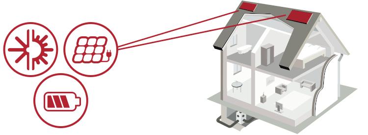 illustrazione impianto fotovoltaico